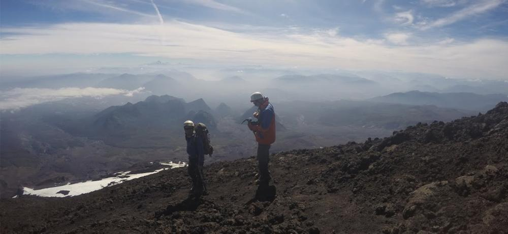 Reaching the Summit of Volcano Villarica in Chile by Connor Bryant