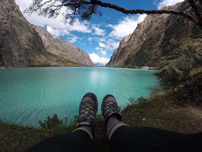 Blue Lake in Huarez, Peru