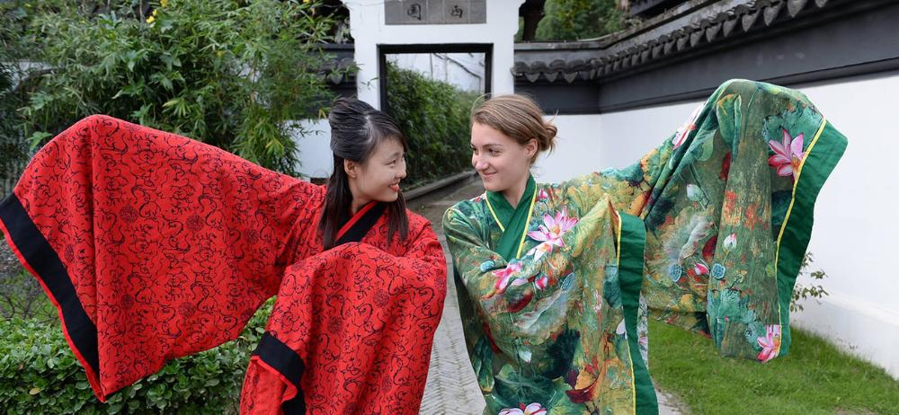 Students in Kimonos in Nanjing, China by Azuraye Wycoff