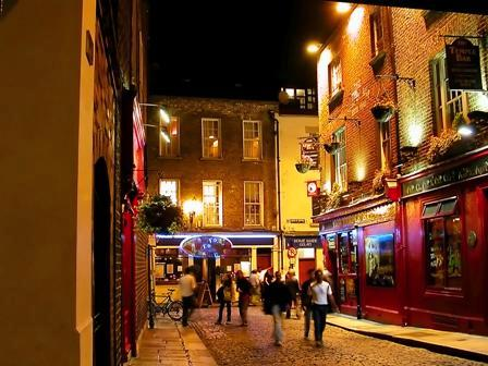 Streets of Dublin by Night