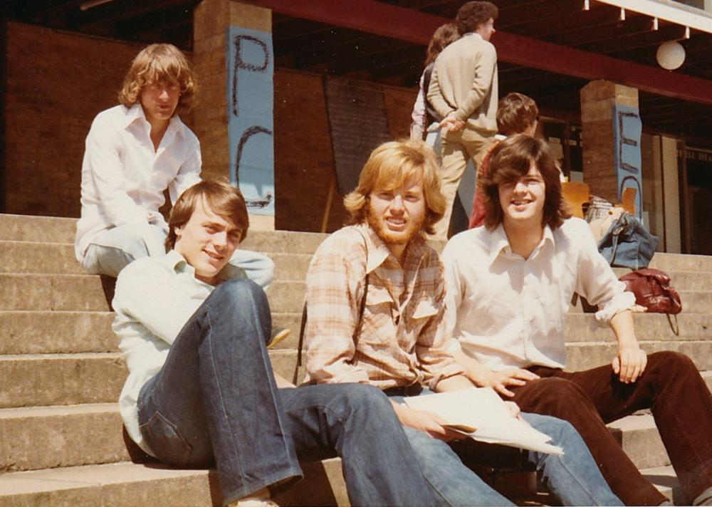 Education Abroad alums in Lancaster, 1979, photo courtesy David Emrich