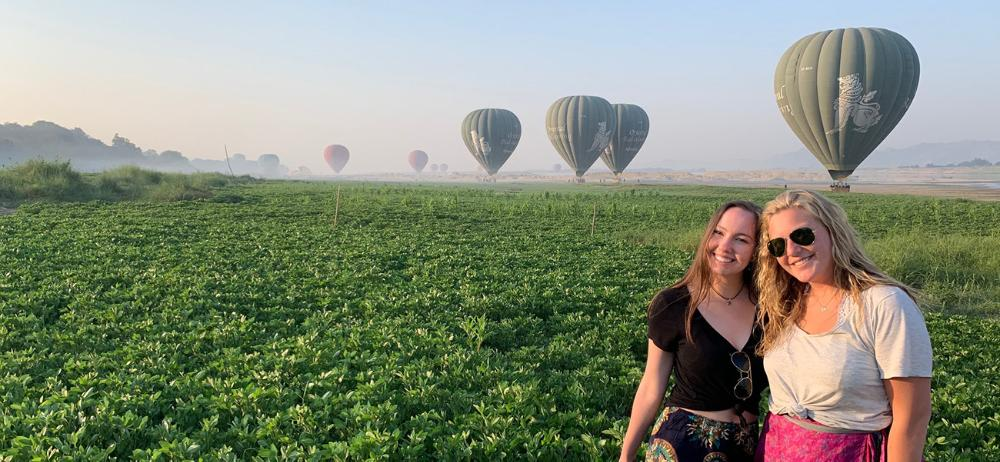 Ballooning in Bagan by Natalie Blunt