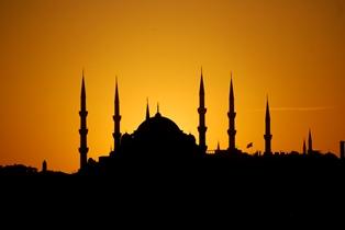 Blue Mosque Sunset by Lauren Shapiro