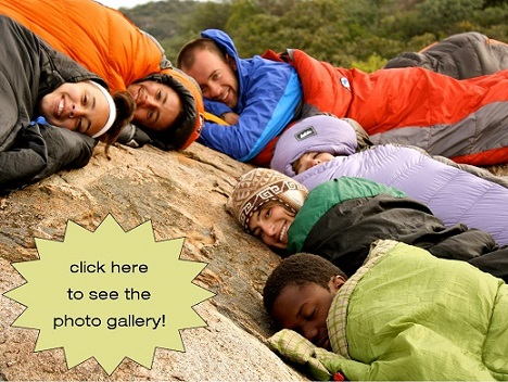Students in Sleeping Bags by Megan Barrie