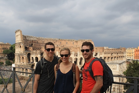 Students at the Colosseum
