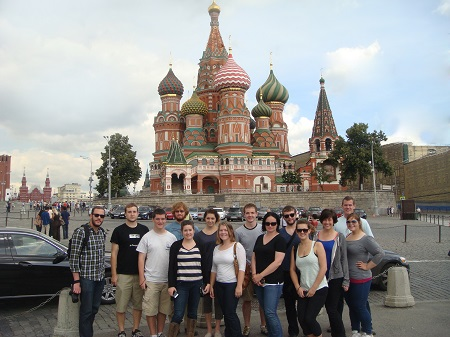 Group Photo by the Saint Basil's Cathedral
