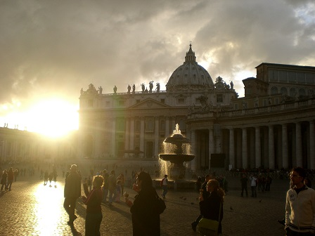 Sunset in the Vatican