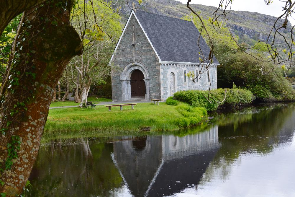 Irish church across the water