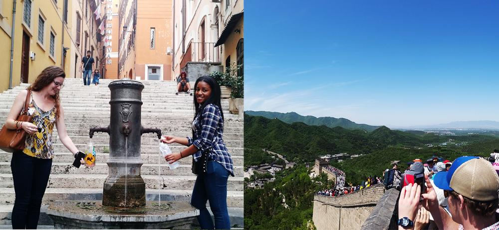 Students in Italy and China
