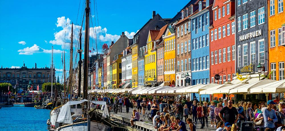Bustling Danish Harbor by Timmy Gouin