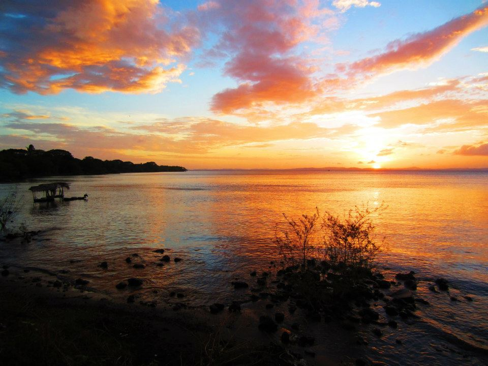 Sunset over Nicaragua waters