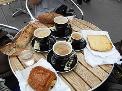 Coffee and pastries in Bordeaux